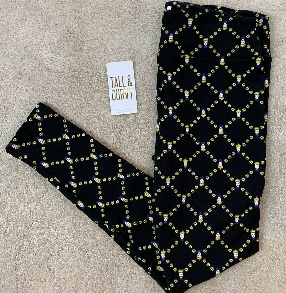 656810d3545e02 NWT TC Lularoe DISNEY VILLAINS Evil Queen Bad Poison Apple Skull BLACK RARE  #fashion #clothing #shoes #accessories #womensclothing #leggings (ebay link)