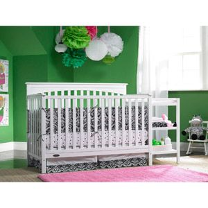 Bon Graco   Woodbridge 4 In 1 Fixed Side Crib And Changing Table Combo, White