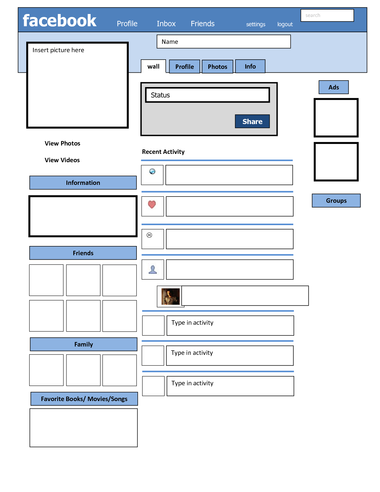 Downloadable Facebook Template For Artistic Investigation