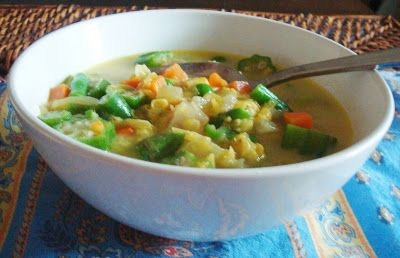 chacha's gluten free kitchen: Meatless Monday - Curried Coconut Vegetable Soup