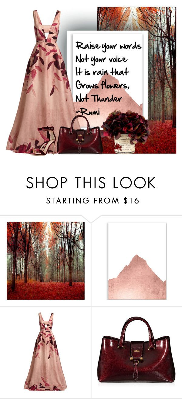 """Raise Your Words"" by mistylake ❤ liked on Polyvore featuring WALL, Lela Rose, Hogan, Gianvito Rossi, Fall, INSPIRE, empowerment, rumi and raiseyourwords"