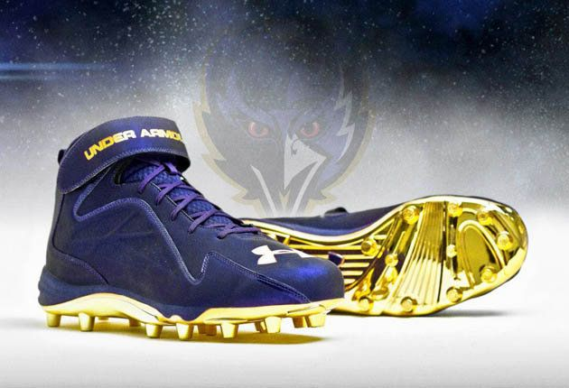 0883304e Ray Lewis and the Baltimore Ravens will have super sparkly shoes for ...