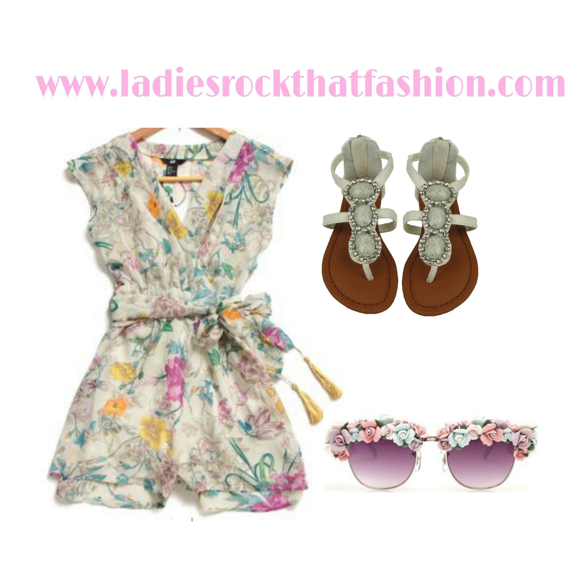 Two piece floral short set Available at www.ladiesrockthatfashion.com