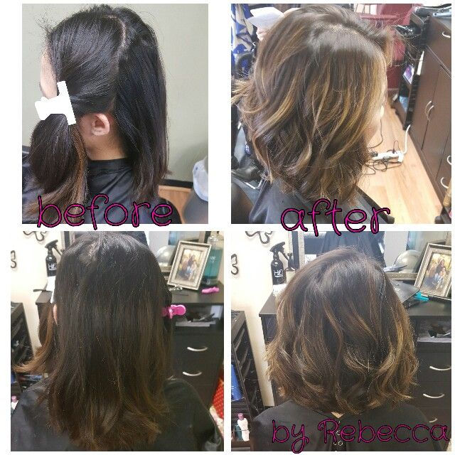 Bayalage color and cut done by myself Rebecca Gonzalez, at Simply Chic Beauty Salon in Lowell, Mass