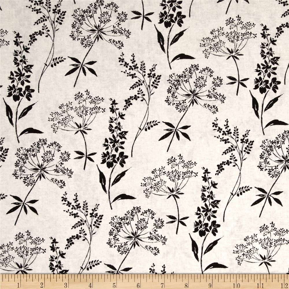 Jardin De Provence Wild Flowers Cream from @fabricdotcom  Designed by Daphne B. for Windham Fabrics, this cotton print fabric is perfect for quilting, apparel and home decor accents. Colors include black and cream.