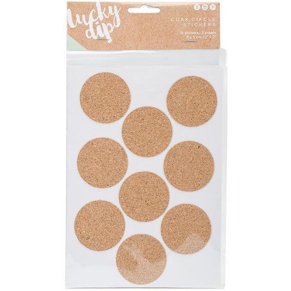 Lucky Dip Cork Stickers - Circles