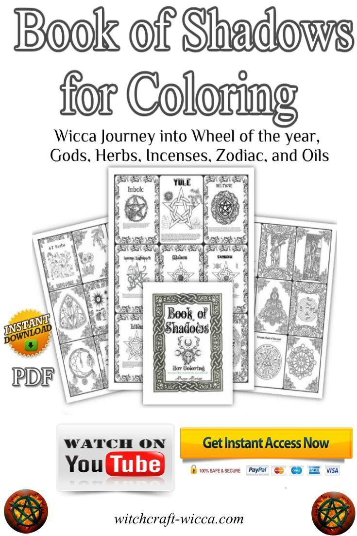 Book of Shadows Coloring Book - 214 Printable Coloring Pages