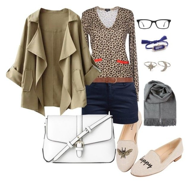"""Leopard"" by sirps on Polyvore featuring Snobby Sheep, Jon Josef, Barbour, Ray-Ban, Dorothy Perkins, L.K.Bennett, Shourouk and Forever 21"