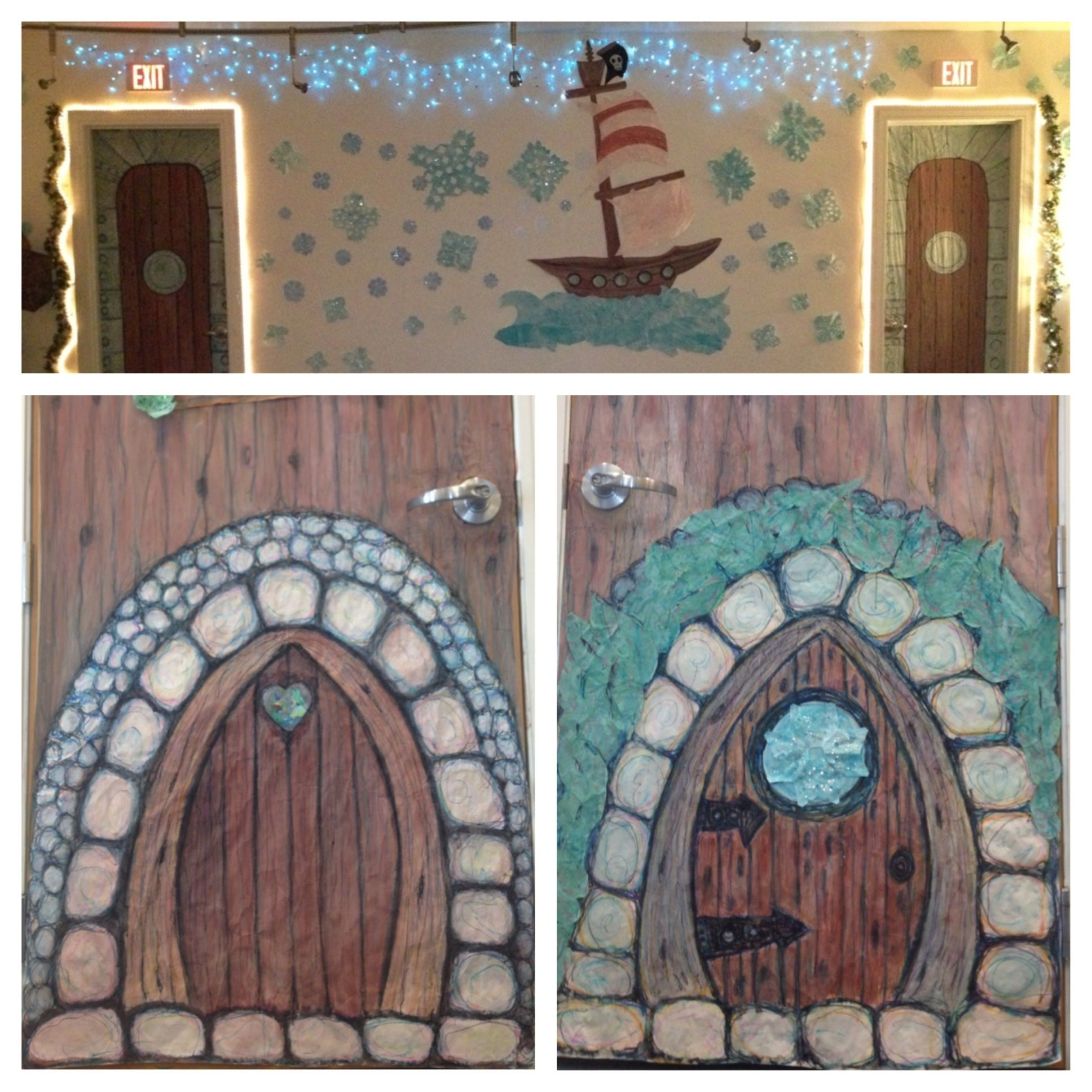 Once upon a story hobbit doors pirate ship u doors by jeanne