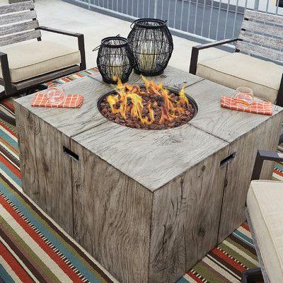 Laurel Foundry Modern Farmhouse Lilah Polyresin Propane Fire Pit Table