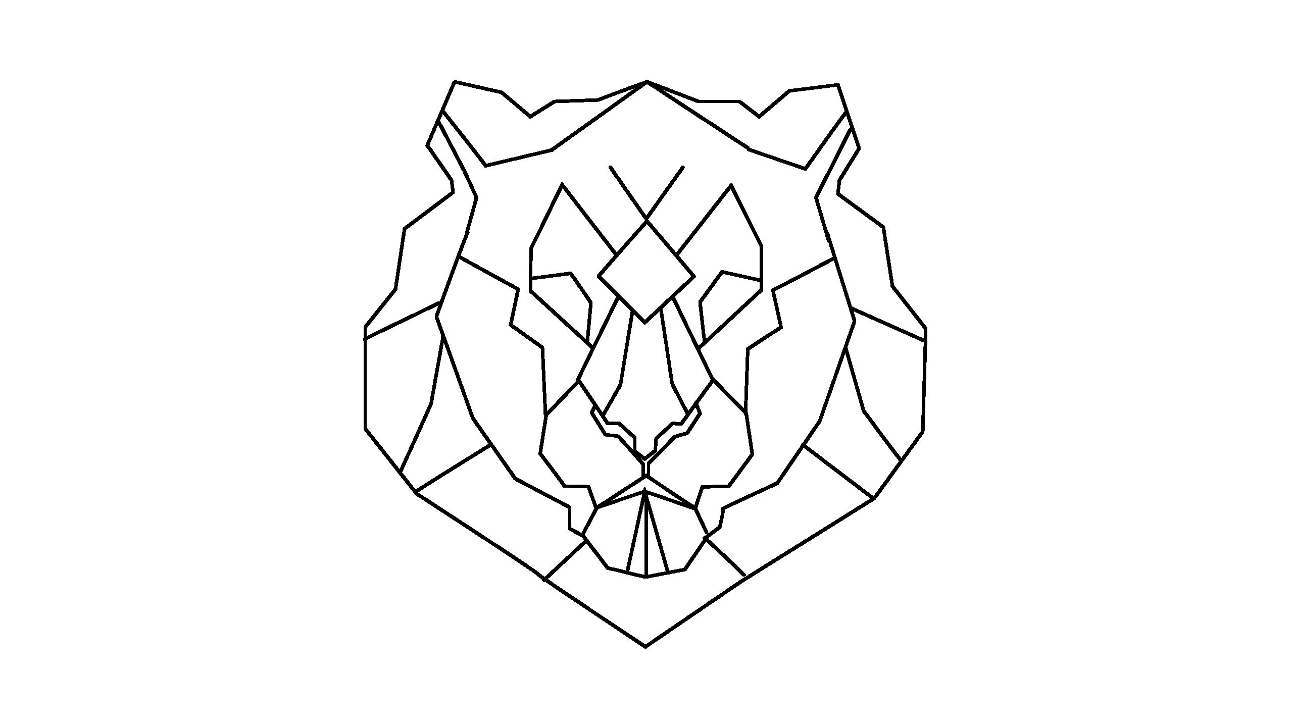 Geometric Geometrique Lion Head Tete