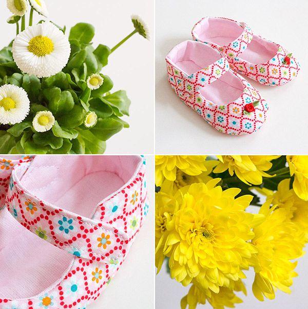 Babyschuhe: Frühlingsparade, Schnittmuster aus meinem Buch: http ...