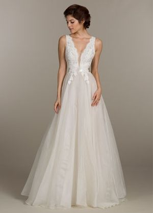 V neck princessball gown wedding dress with natural waist in v neck princessball gown wedding dress with natural waist in alencon lace junglespirit Image collections