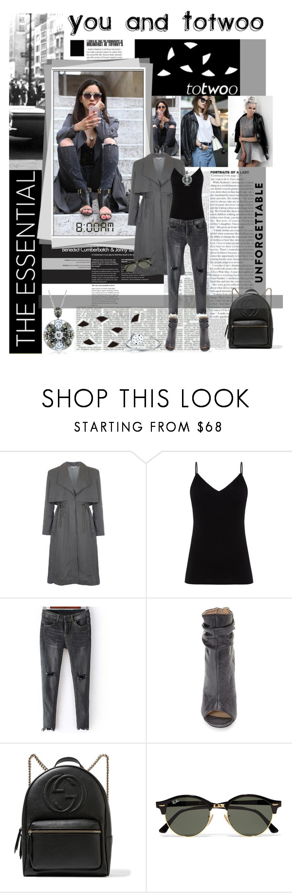 """You and Totwoo"" by lacas ❤ liked on Polyvore featuring French Connection, Diane Von Furstenberg, Kristin Cavallari, Gucci, Ray-Ban, WearableTech, totwoo and smartjewelry"