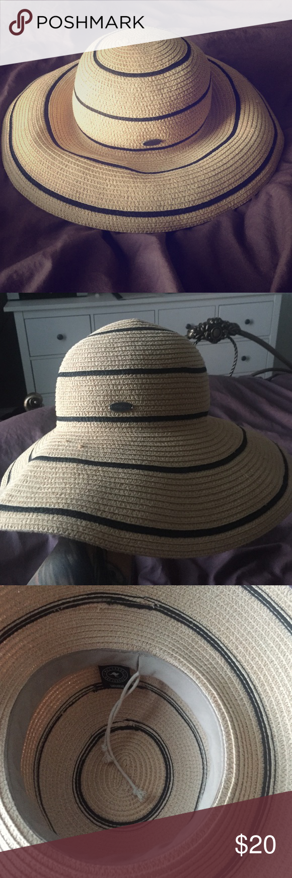 WALLAROO beach hat Beach hat I bought from a boutique. This hat is great for traveling because it rolls up without ruining!!! Wallaroo Other