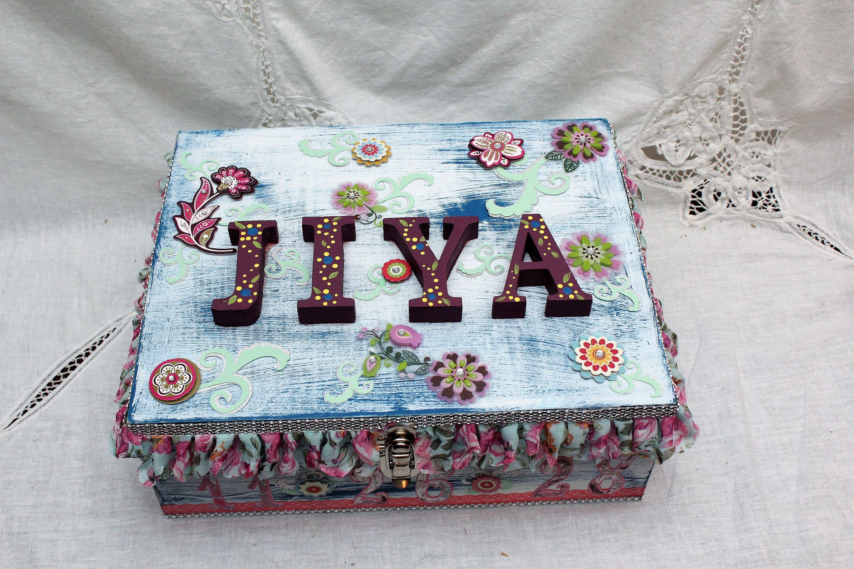 Baby Shower Gifts Keepsakes ~ Baby girl keepsake box baby shower gift time capsule box large