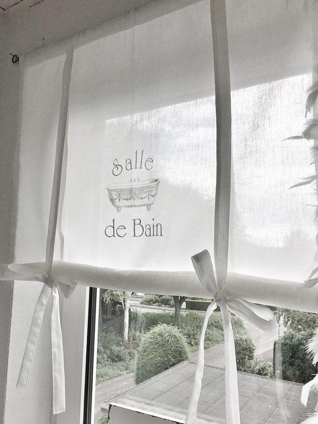 ShabbY Raffrollo *SALLE DE BAIN* French Gardine Euro and Shabby - gardinen für badezimmer