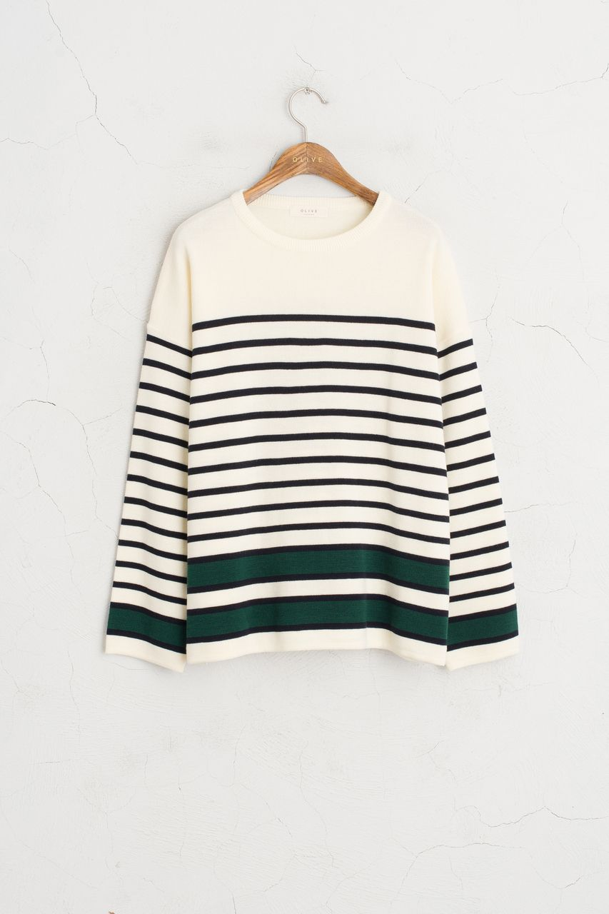 Olive - Different Colour Detail Sleeve Stripe Knit Jumper, Green, £49.00 (http://www.oliveclothing.com/p-oliveunique-20160823-027-green-different-colour-detail-sleeve-stripe-knit-jumper-green)