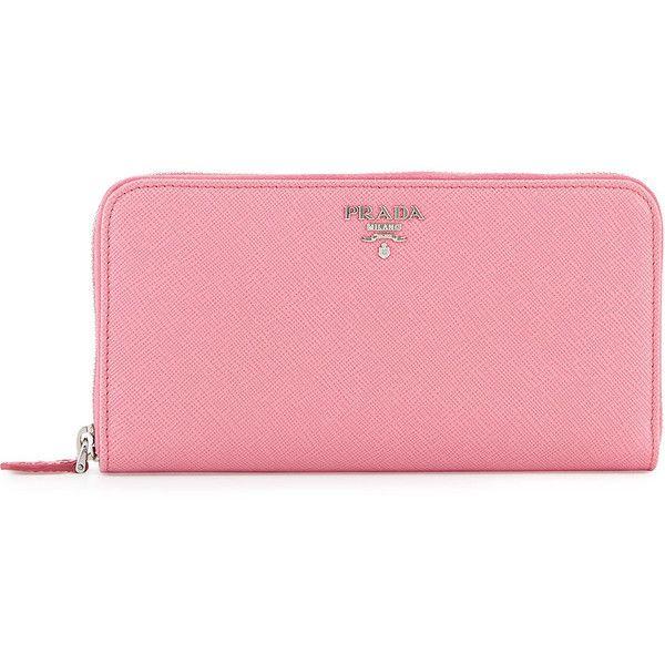 30077ea340c9b Prada Saffiano Leather Oro Zip-Around Wallet