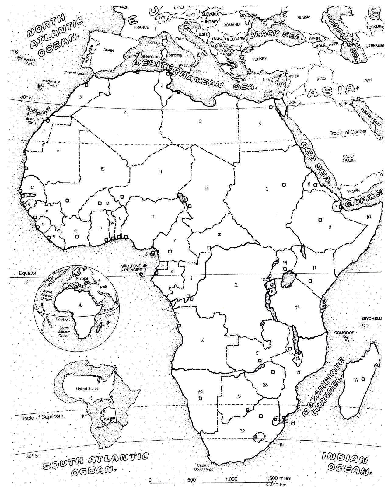 Africa Map Africa Coloring Pages For Adults Just Color
