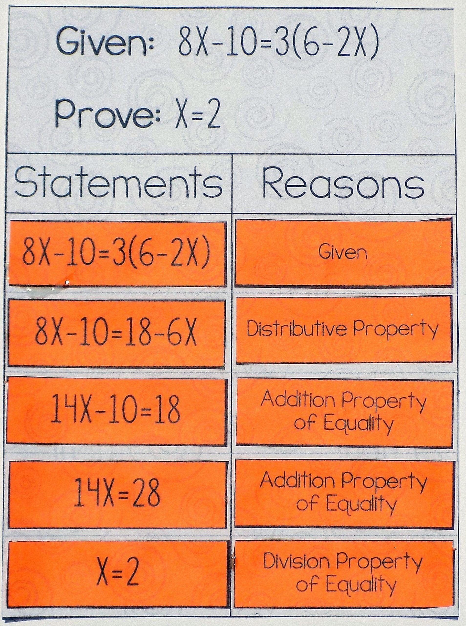 Geometry Algebraic Proofs Worksheet Algebraic Proofs