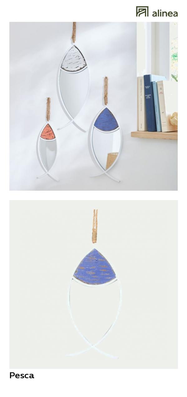 Alinea Pesca Miroir A Suspendre En Forme De Poisson Bleu L43cm Deco Decoration Murale Miroirs Alinea Decoration Murale Miroir Miroir Psyche Miroir