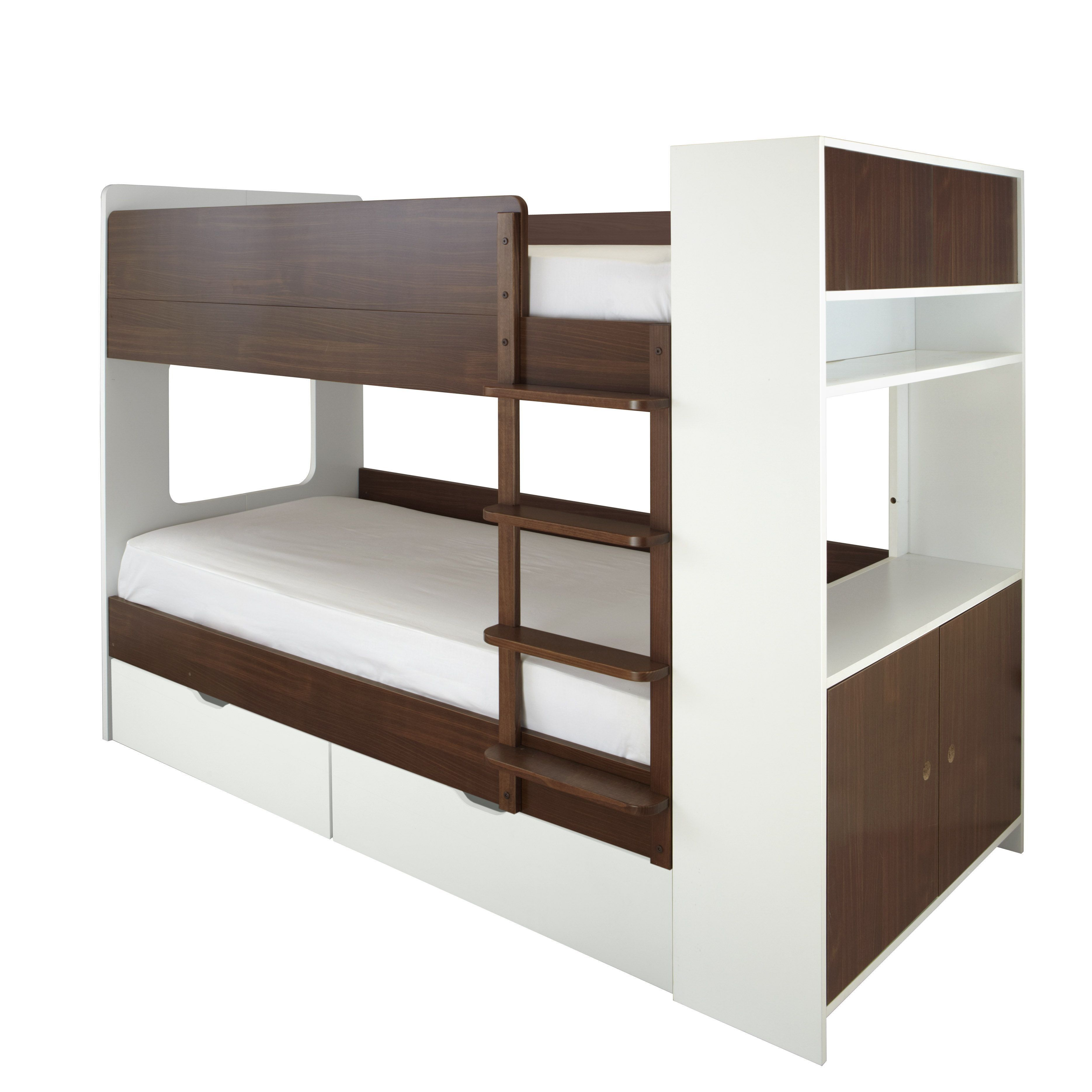 Coco Storgae Bunk A Sleek And Modern Children S Bunk Bed Full Sized Bed With Lots Of