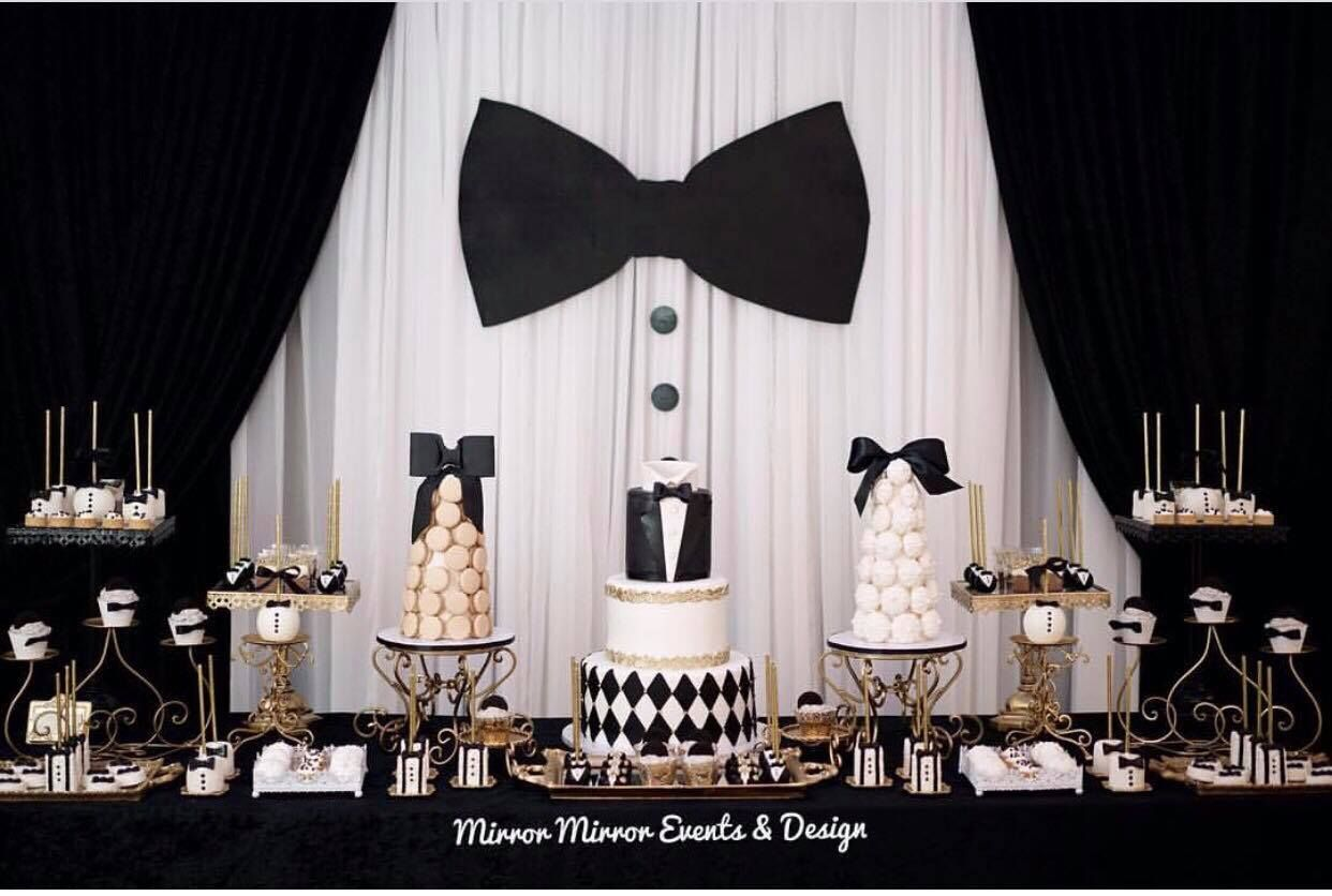 black and white party bow tie party fathers s day guys parties