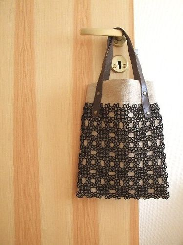 tatting linen bag   Flickr - 사진 공유!
