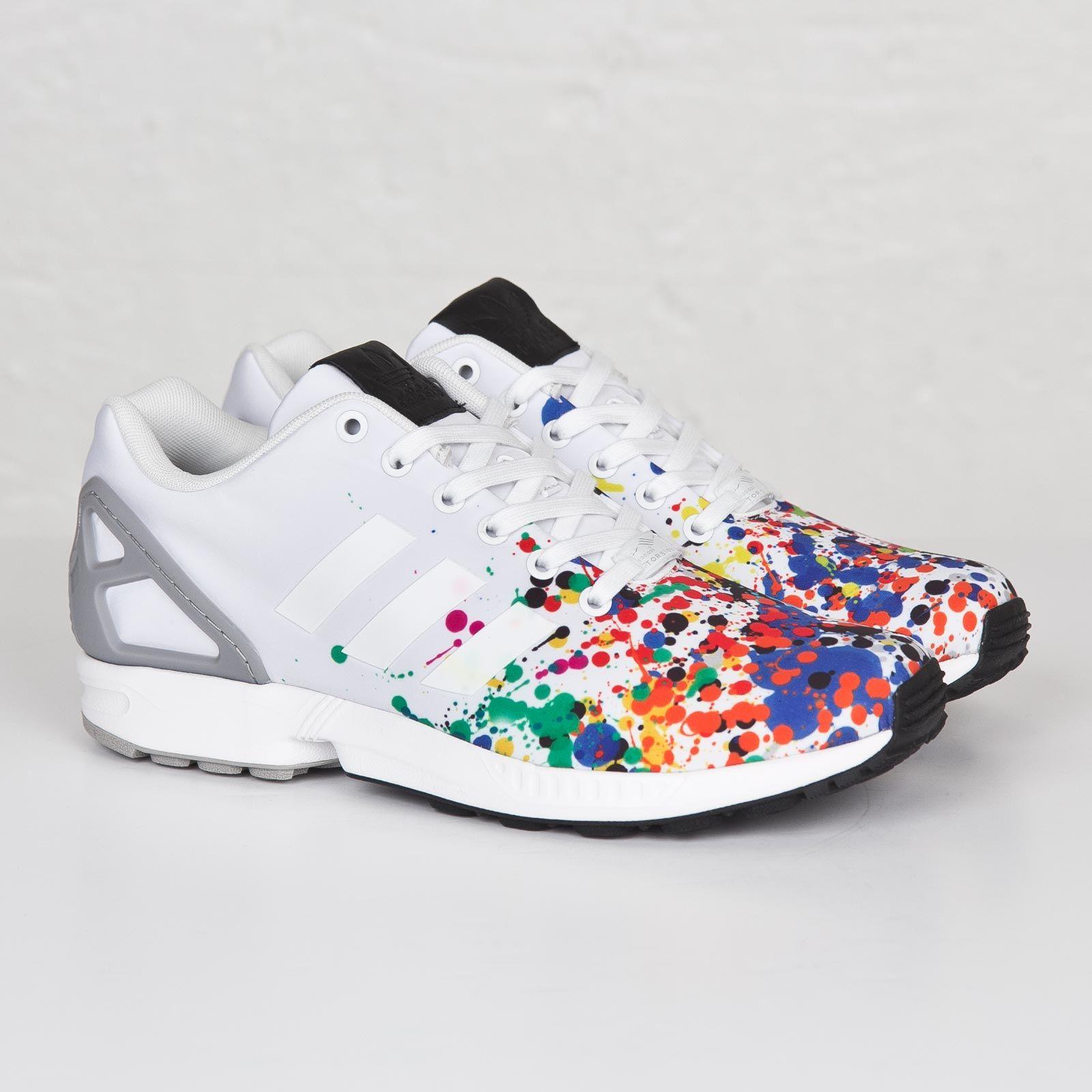 adidas zx flux rose splash