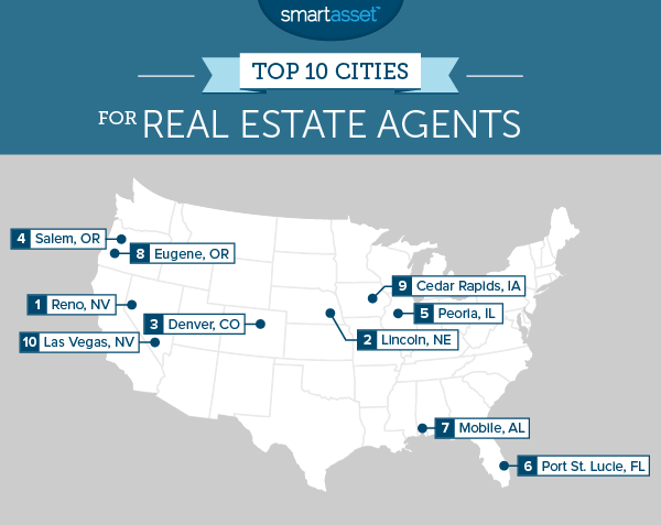 The #Top10 #BestCities to be a #RealEstateAgent in 2015