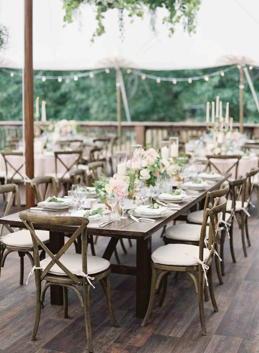10 foot Barnwood banquet tables from Seattle Farm Tables in stylish