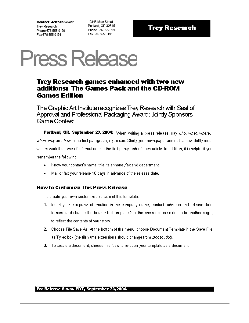 Press Release Example New Game Download This Press Release Sample New Game Template And After Dow Press Release Example Writing A Press Release Press Release