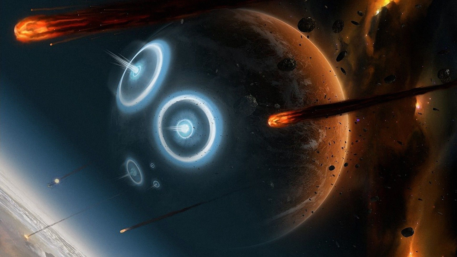 Wallpaper Space Fire Planet Exoplanet Planet space stars