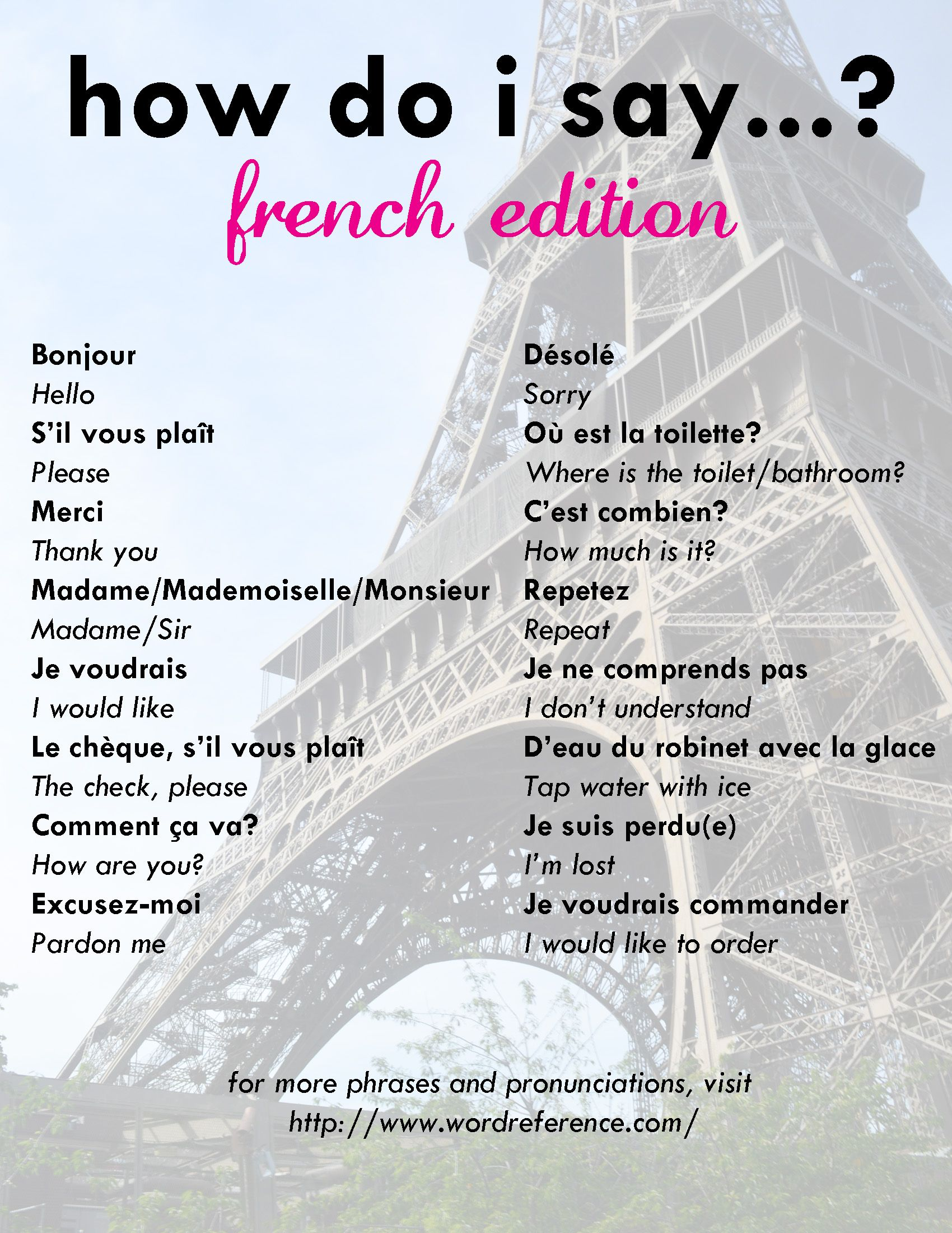 Image Result For Useful French Phrases Useful French Phrases French Phrases Travel Words