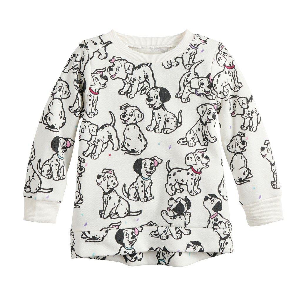 Disney S 101 Dalmatians Baby Girl Fleece Sweatshirt By Jumping Beans In 2020 Disney Baby Clothes Girl Girls Fleece Disney Outfits Girls