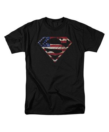 This Black 'Super Patriot' Superman Tee - Adult is perfect! #zulilyfinds