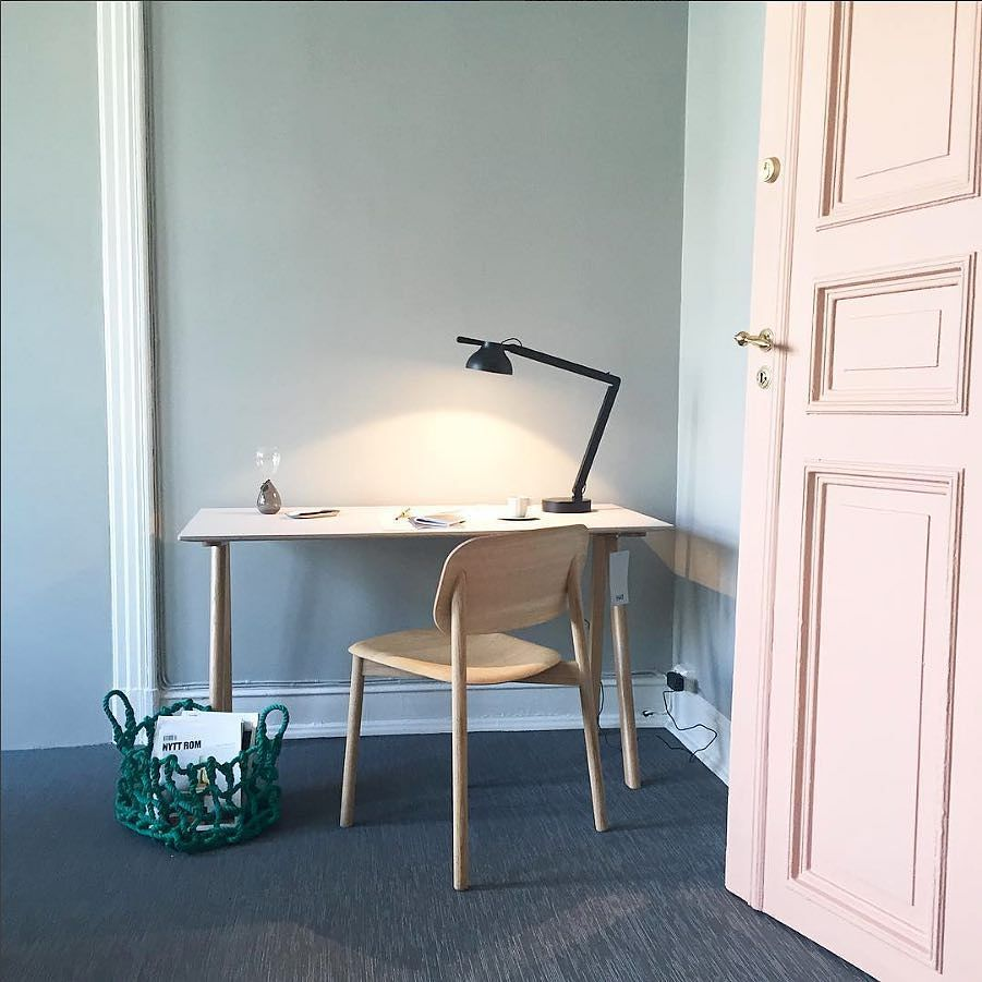Good Hey Hay lovely interior styling from haynorge featuring the soft edge chair Copenhague desk from