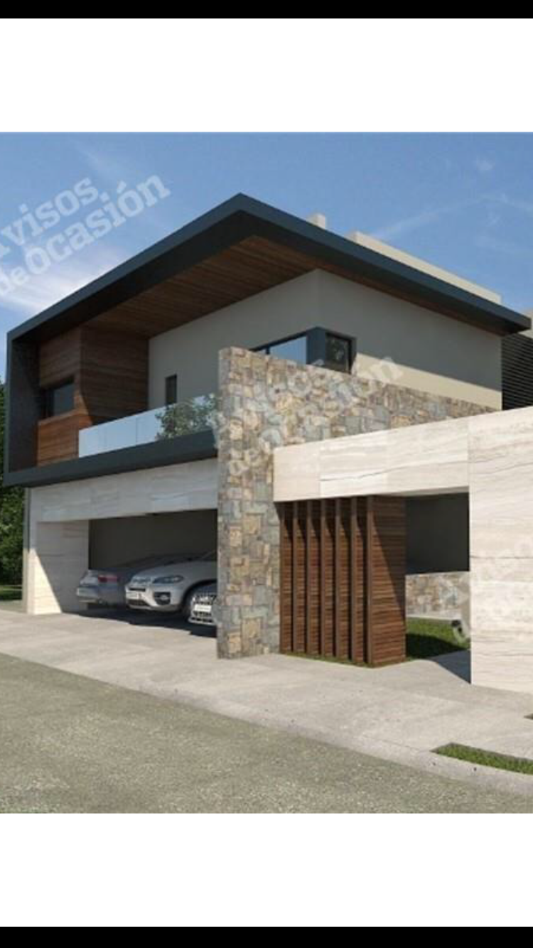 Cocinasmodernasmadera casa pinterest fachadas casas y