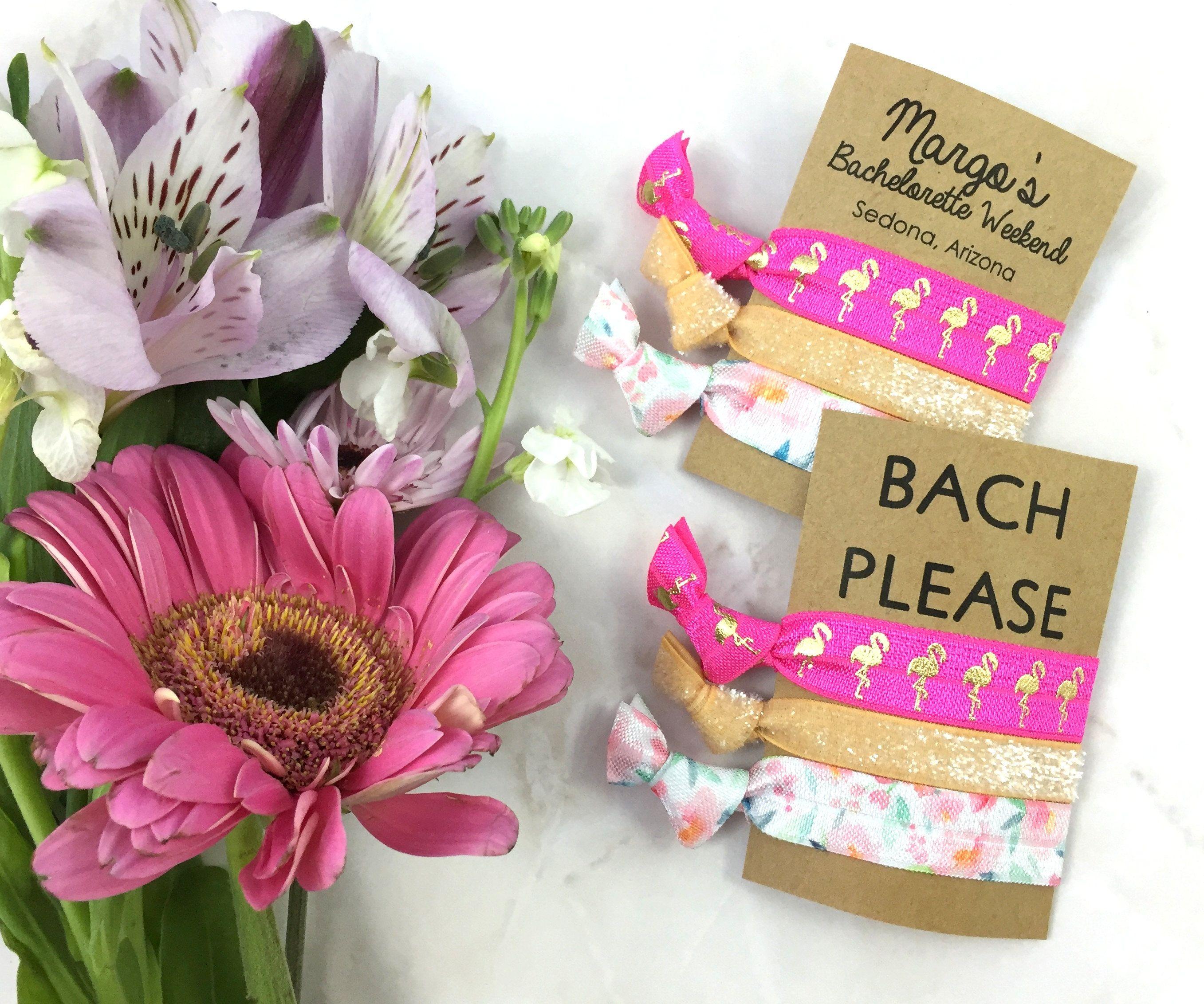 Bachelorette Party Hair Ties - Beachy Keen Set of 3 Hair Ties ...