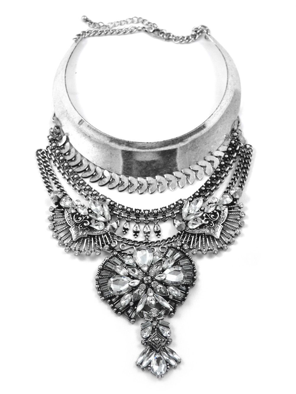 Empire Embellished Choker and Necklace