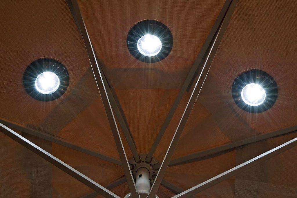 Patio Umbrella Lights Magnetic Solar The Green Head