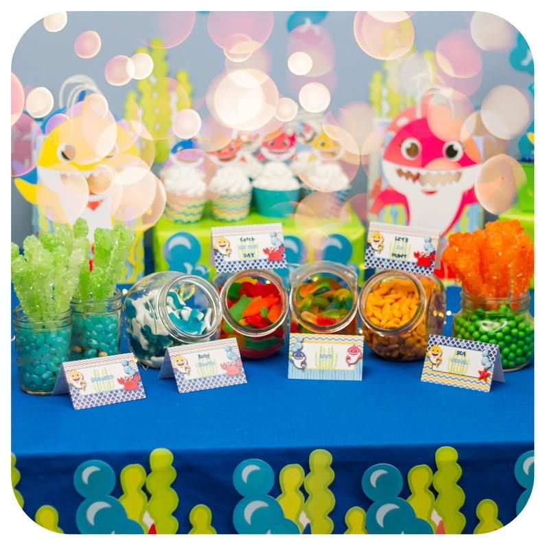 Pin On Shark Themed Birthday Party For Boys