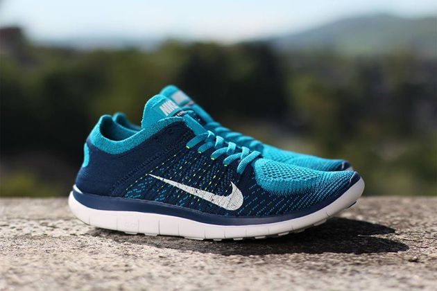 sale retailer 612f2 e50be Nike Free Flyknit 4.0 – Neo Turquoise   White – Brave Blue – Volt