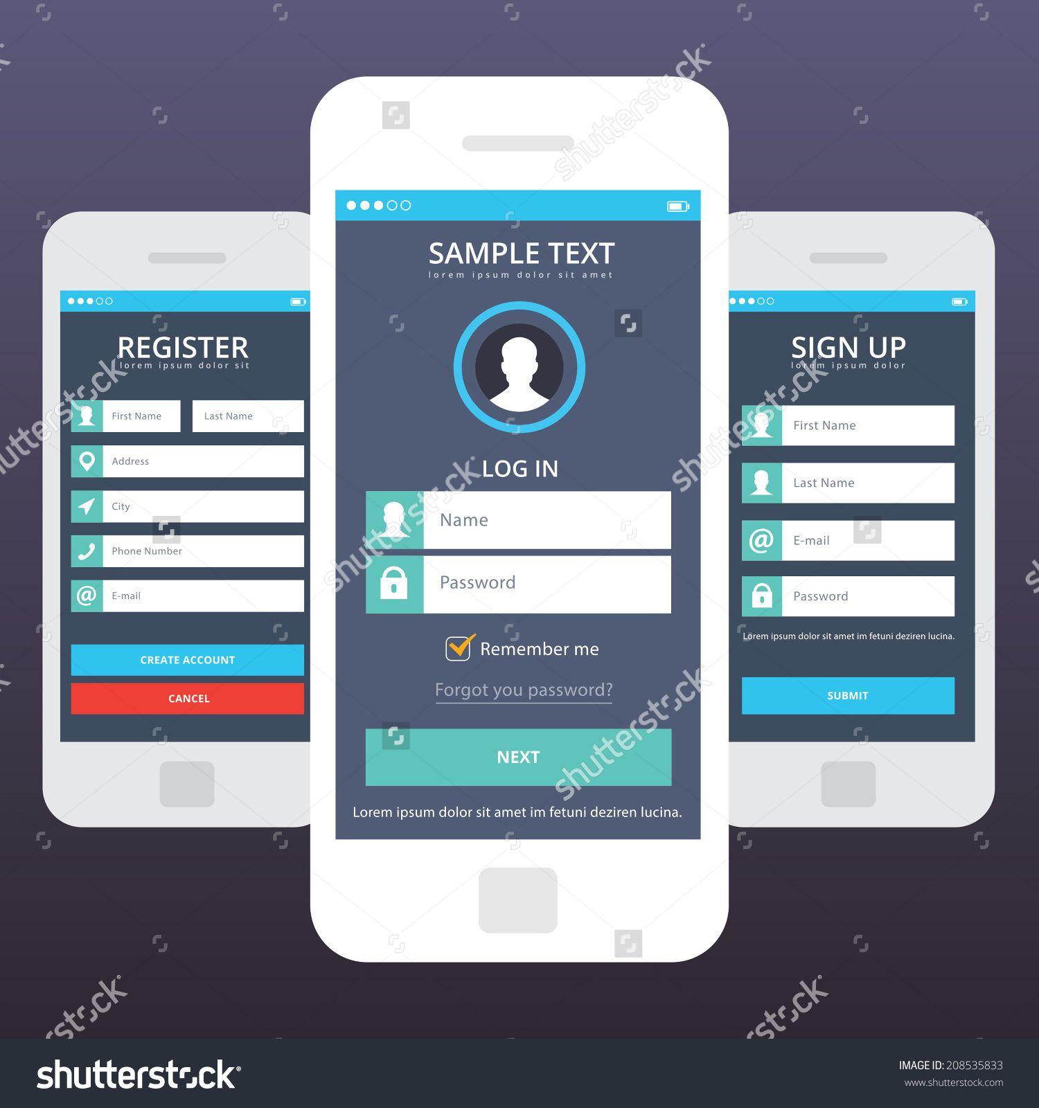 Image result for app login screen