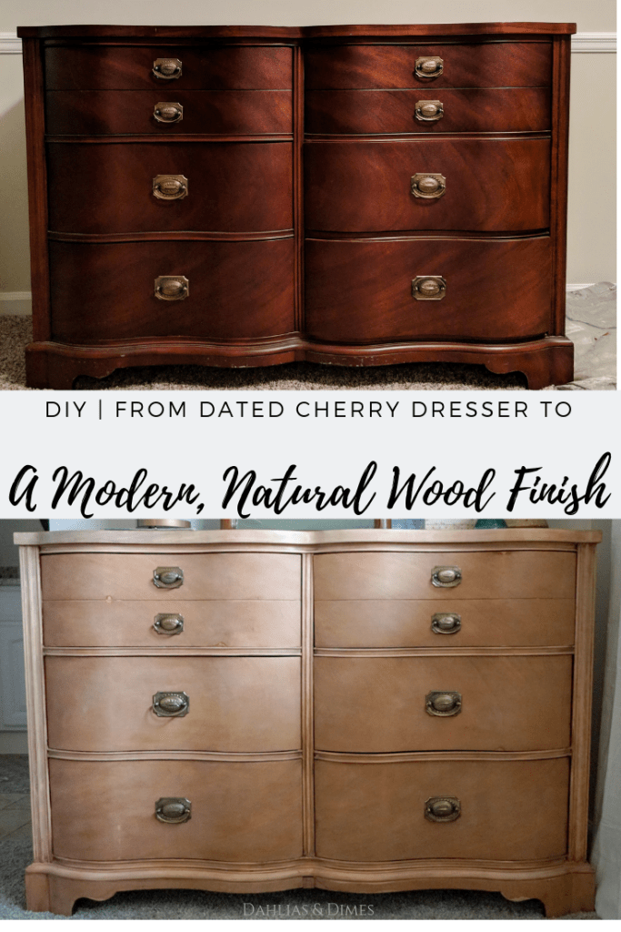 Cherry Dresser Makeover To Natural Wood Finish In 2020 With Images Natural Wood Furniture Wood Furniture Diy Natural Wood Dresser