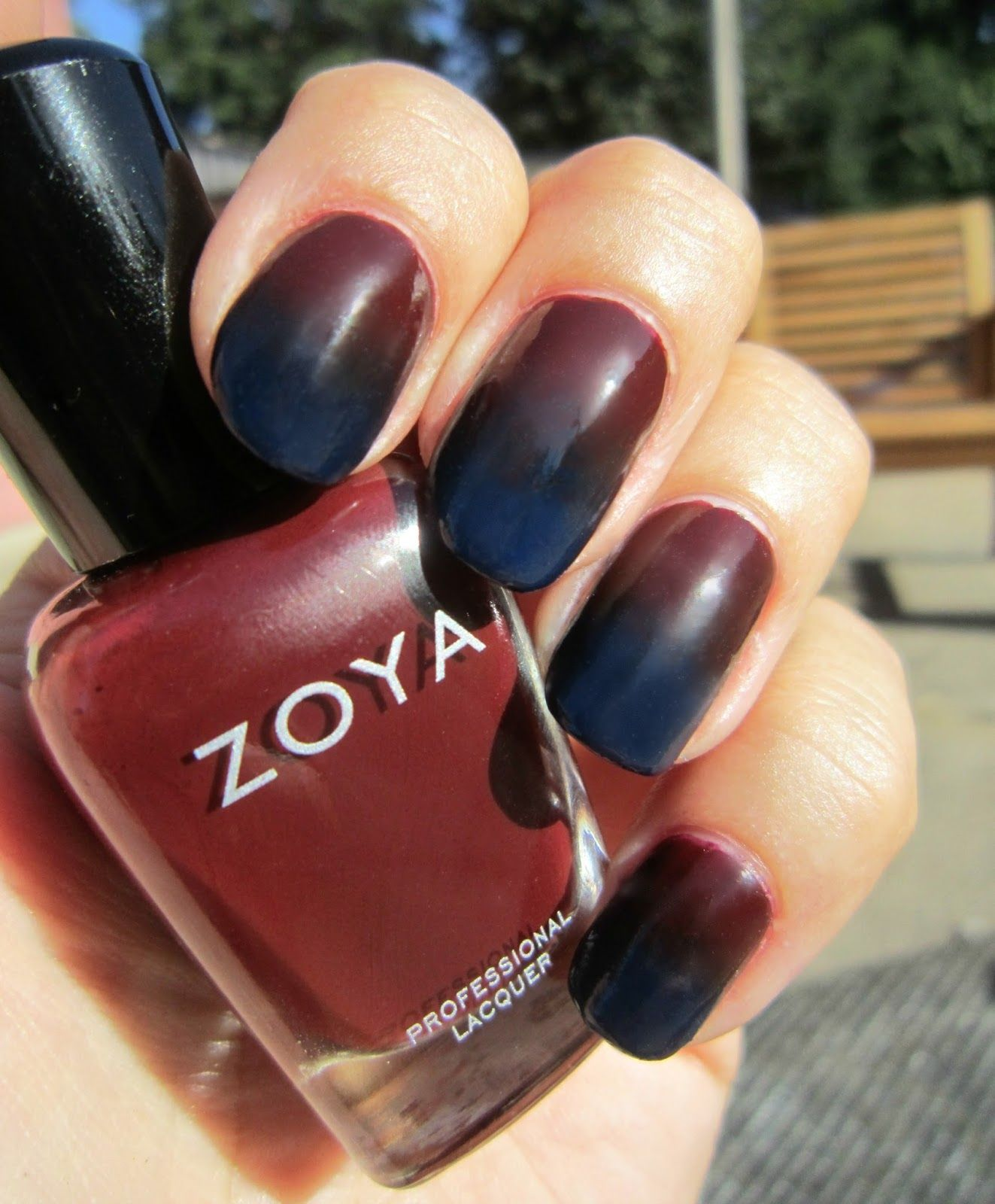 Concrete and Nail Polish: Gradient With Zoya Claire & Ryan