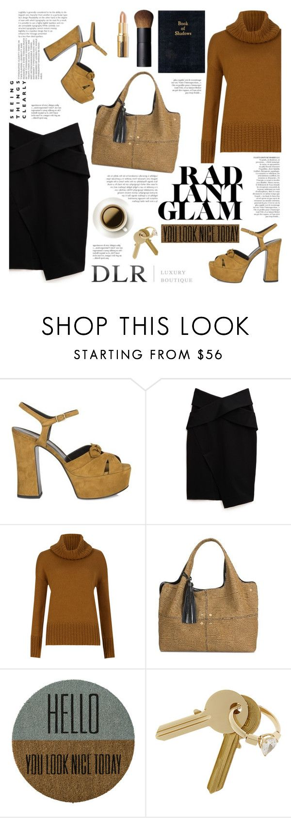 """""""Radiant Glam/DLR Luxury Boutique"""" by helenevlacho ❤ liked on Polyvore featuring Yves Saint Laurent, Josh Goot, M&S Collection, Borbonese, Anja, Bloomingville, Maison Margiela, NARS Cosmetics, Elegant and glam"""