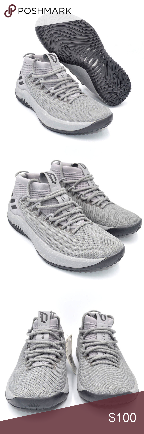 4c57659f4d6774 Adidas Dame 4 Grey Damian Lillard Mens Basketball Color  Grey   Black Style     CQ0474 Condition  New without Box BBB-16 18 adidas Shoes Athletic Shoes