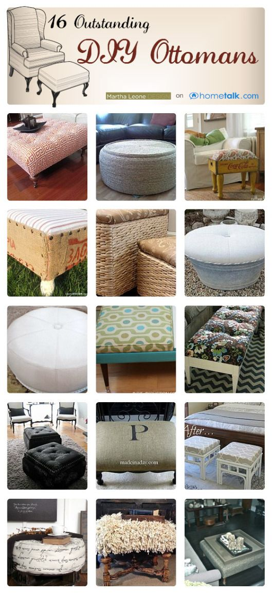 Great Ottomans Idea Box by Martha Leone Design | Tapizado, Otomanas ...
